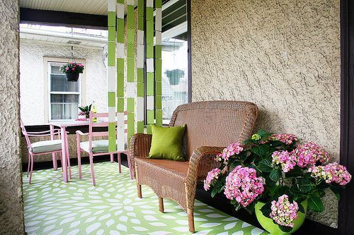 A Pretty Porch ~ Click this Link makingitlovely.co... to See an Inspiring Home Decorating Before and After