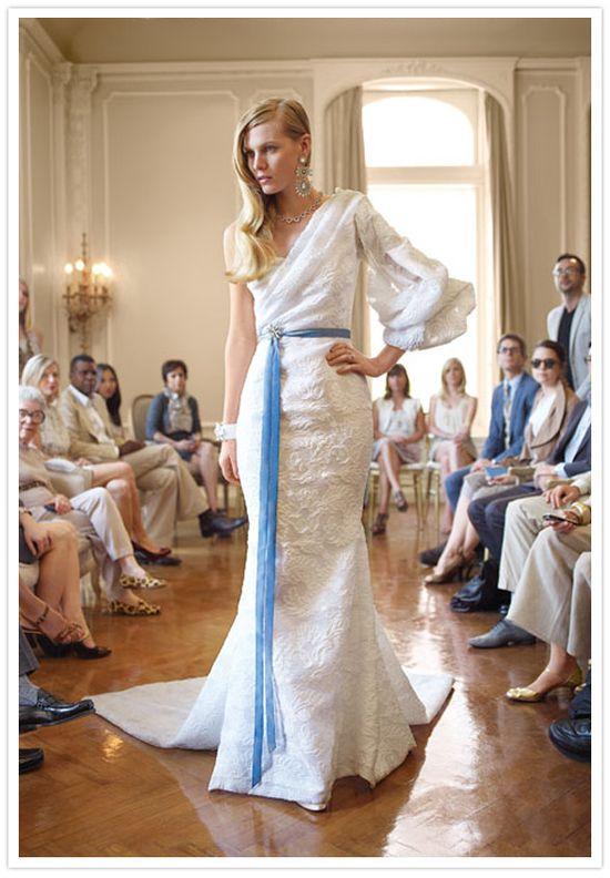 Love this vintage one shoulder dress