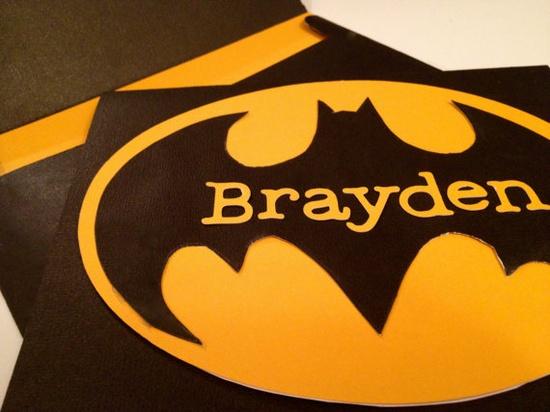 Batman Super Hero Invitations @Becky Hui Chan Johnson better get ready for next year!