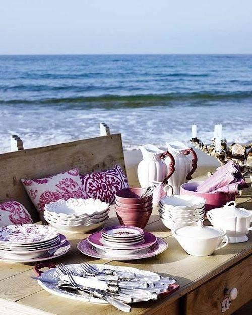 summer beach picnic