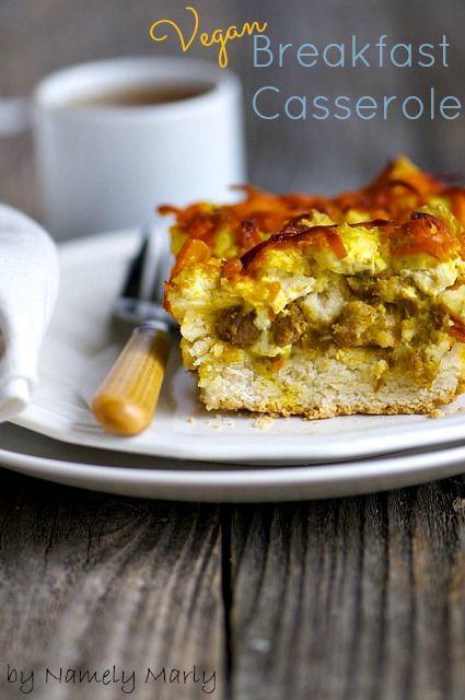 A simple but delicious vegan breakfast casserole #vegan #breakfast