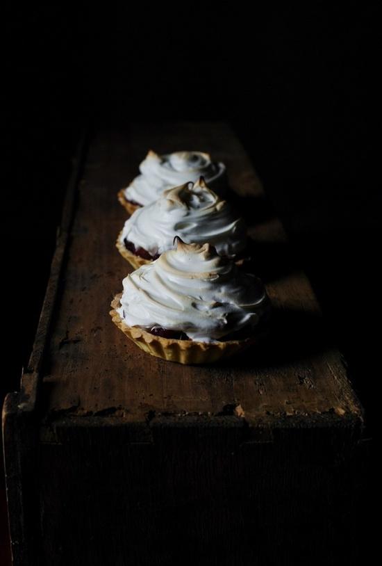 Plum & fig meringue pie
