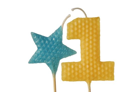 Handmade beeswax birthday candles add a cute touch to any celebration.