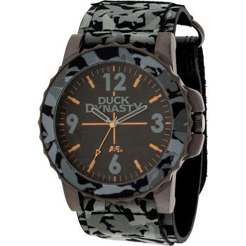 Duck Dynasty Men's Watch, Grey Camo Fast Strap: Watches #duckdynasty