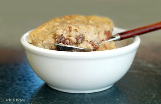 Breakfast Oatmeal.  i've never liked oatmeal but this looks good!