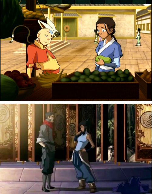 The Legend of Korra/ Avatar the Last Airbender: The Avatar's flirting stance.