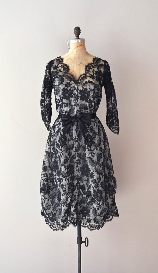 vintage 1950s dress / 50s lace dress / Nuova Ragazza dress