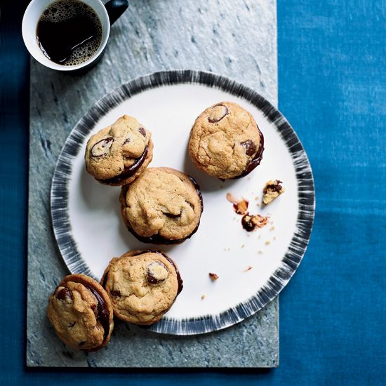 Ganache-Stuffed Chocolate-Chip Cookies // More Great Sandwich Cookies: www.foodandwine.c... #foodandwine