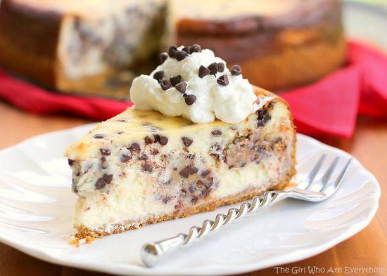 Chocolate Chip Cookie Dough Cheesecake yum!!