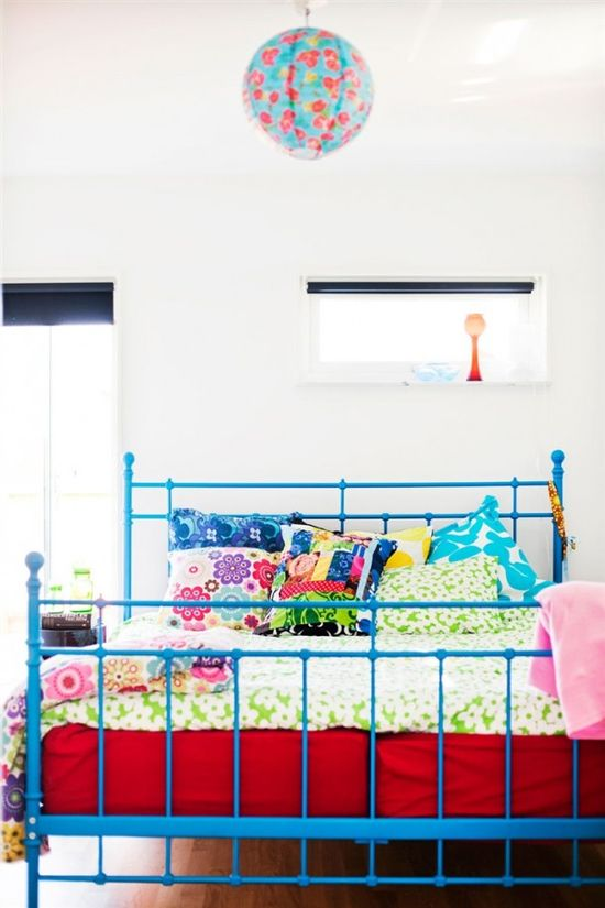colorful bohemian bedroom