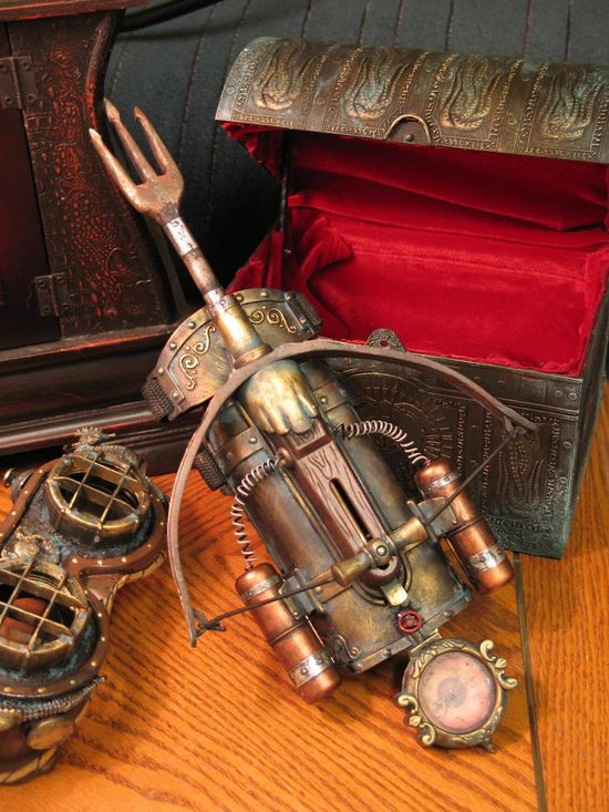 Steampunk Crossbow #steampunk #fashion #gadgets #inventions