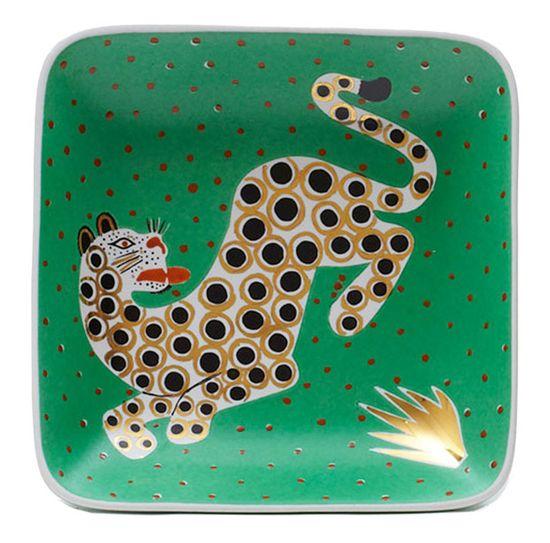 Gervis Design Studio leopard square dish.