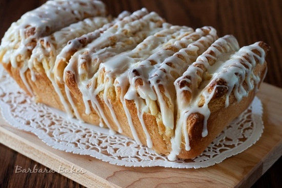 Lemon Pull-Apart Bread Layers of light, fluffy sweet bread sandwiched with sweet, fragrant lemon sugar, then drizzled with a tart lemon glaze.