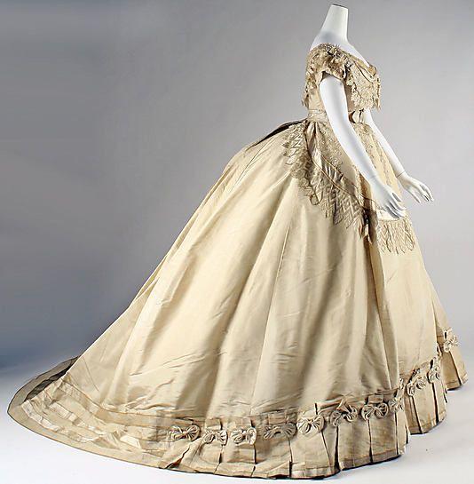Dress, Evening  Date: ca. 1867 Culture: French Medium: silk