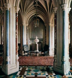 Downton Abbey and Highclere Castle interiors - entrance hall