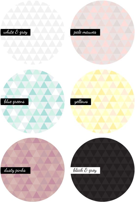 Geometric Triangle Patterns - free printable from August Empress