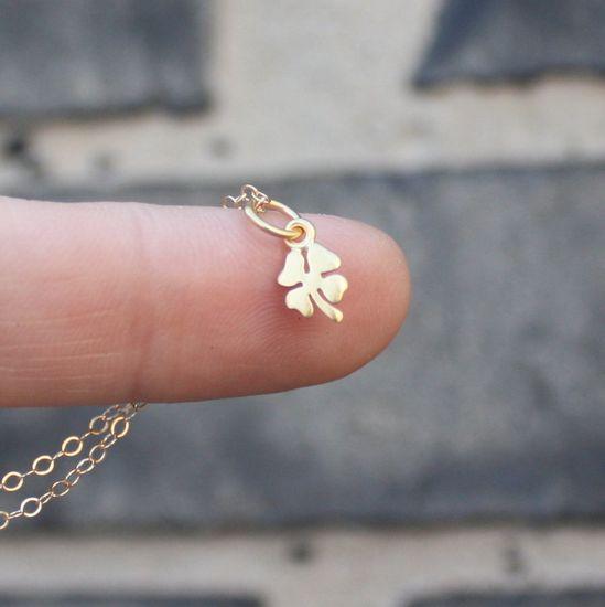 tiny four leaf clover