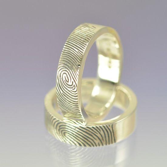 His & Hers fingerprint rings.
