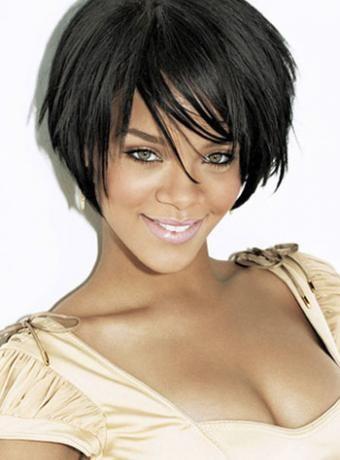 Rihanna Hairstyle Wispy Razor Bob Cut