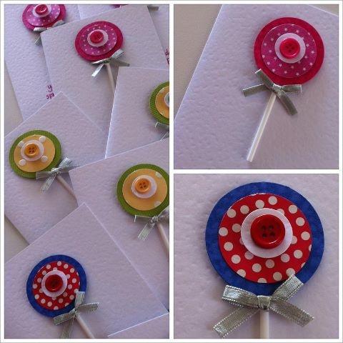 Lollipop handmade birthday cards by OSONiA Designs