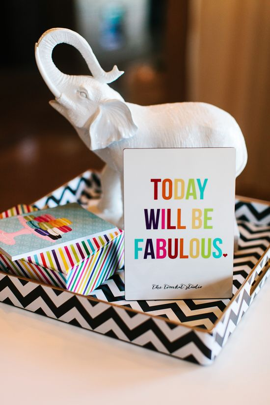 """""""Today Will Be Fabulous"""" - Getting Creative with Shutterfly Home Decor :: The TomKat Studio www.thetomkatstud..."""