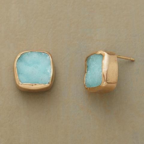 BLUE DRUZY EARRINGS - New Arrivals - Jewelry
