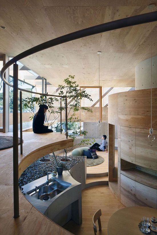 Pit House by UID Architects, Japan.
