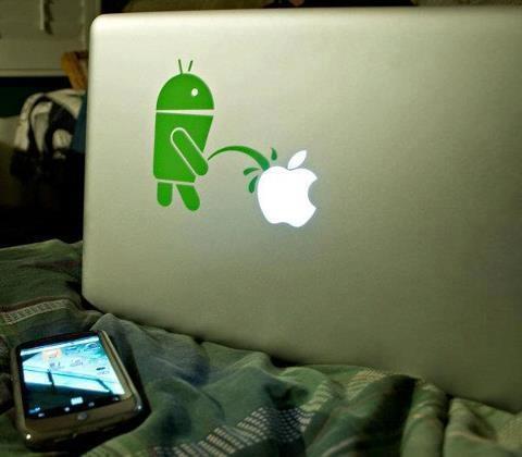 gran logo android vs apple