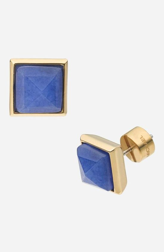Cute! Michael Kors Stone Pyramid Stud Earrings
