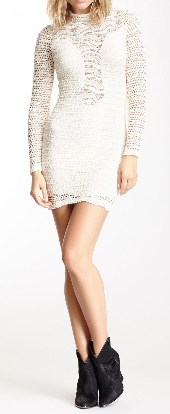 Diamond Down Lace Dress