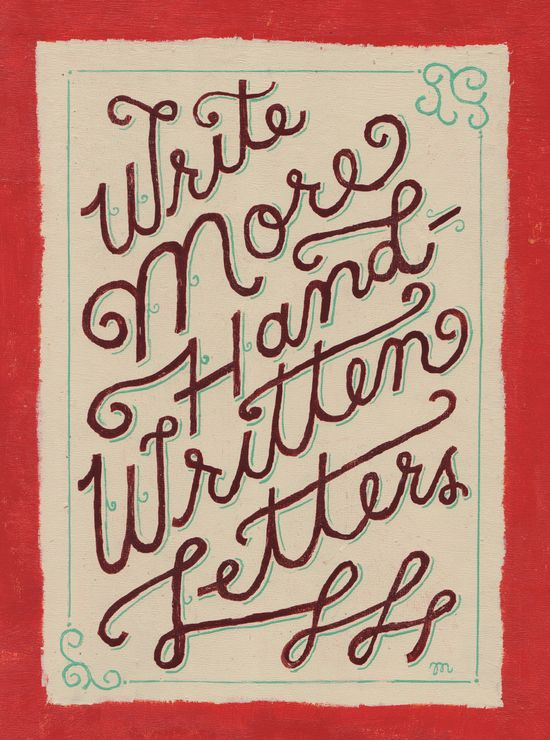 Write More Hand-Written Letters