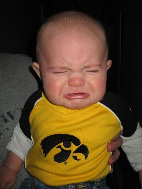 Crying hawkeye baby - he usually has a reason