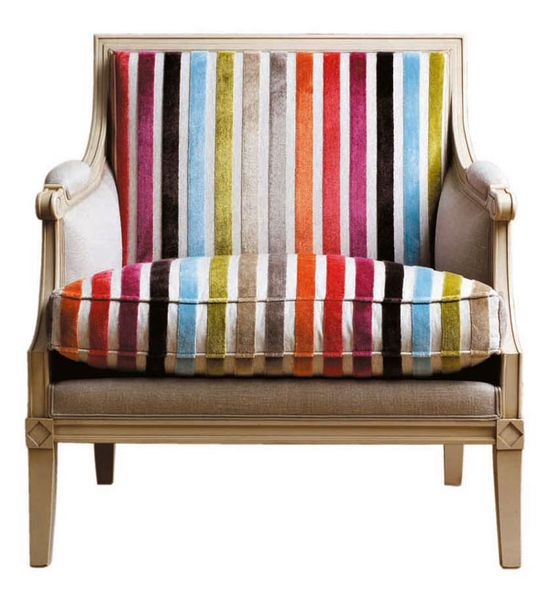 Gorgeous rainbow chair from Roche Bobois.