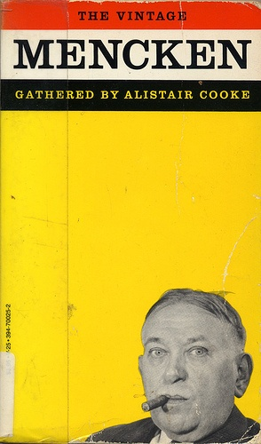 "Book cover. ""The Vintage Mencken"" (photo by A. Aubrey Bodine)"