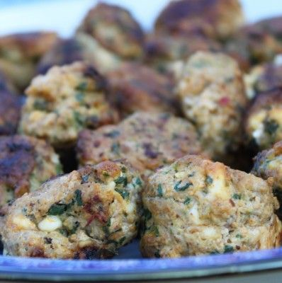 Spinach & Feta Chicken Meatballs