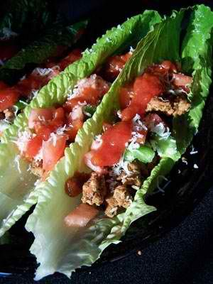 Weight watchers Taco lettuce wraps...that looks so good! :)