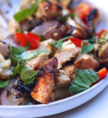 Thai Chicken, Eggplant and Basil
