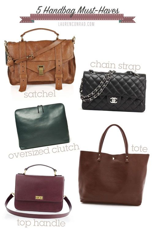 5 handbags every girl ought to have