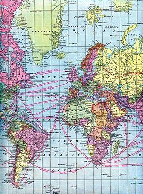 Vintage Clip Art - World Maps - Printable Download