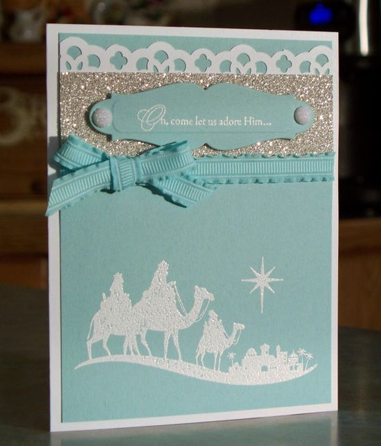 Stampin Up Come to Bethlehem Christmas Card via Etsy