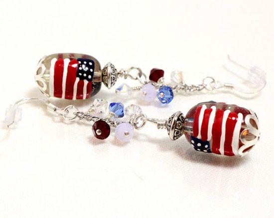 American Flag and Swarovski Crystal by NancysCrystalFantasi, $20.00