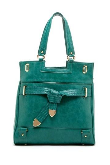 Tie Front Accent Handbag.