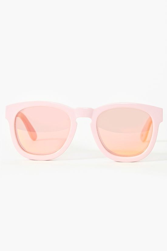 classic fox shades in pink mirrored