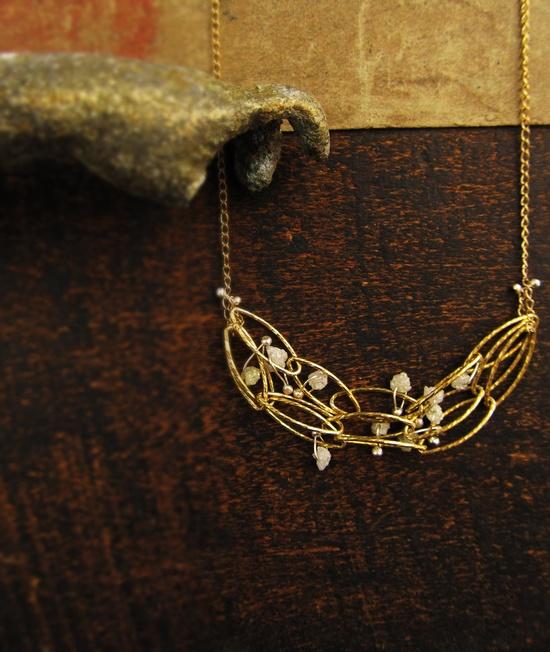 rocks (rough diamond) necklace