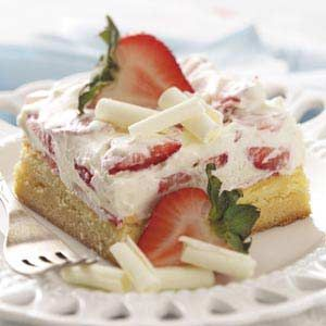 White Chocolate Berry Dessert recipe from Taste of Home.