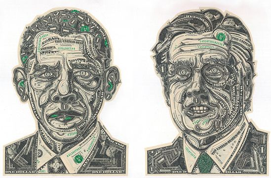 Currency Collages by Mark Wagner