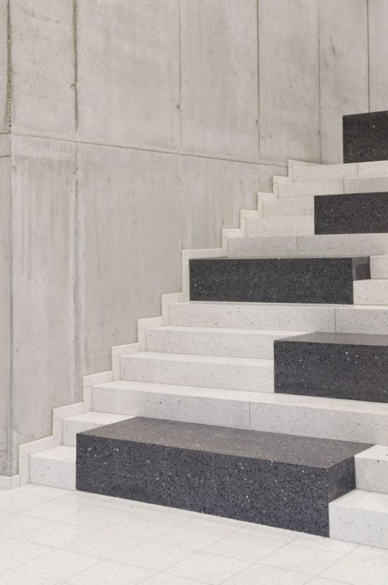 #architecture #details #design #interiors #stairs #stone #concrete #white #style - Research & Sports Hall of Humboldt University / Scheidt Kasprusch Architekten