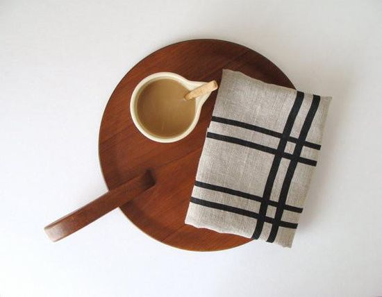 Step up your kitchen decor with this screen printed tea towel ? $18