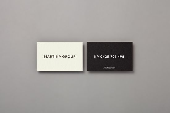 ++ business cards for Martino Group by Studio Hi Ho