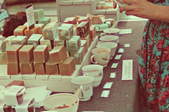 handmade soap like the shelf they sit on